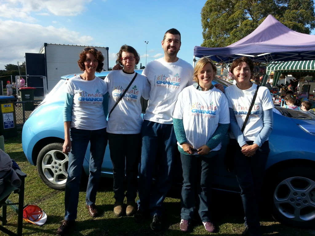 Ryde Gladesville Climate Action core group at Moocooboola Festival August 2014