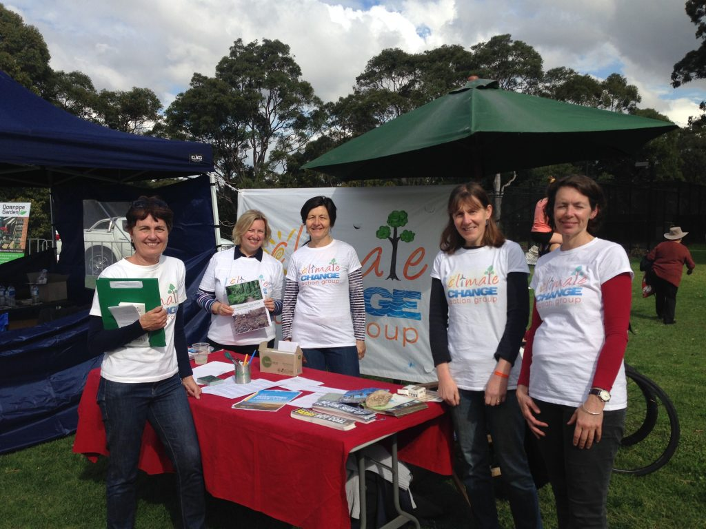 Climate change stall at Moocooboola festival 2016